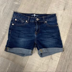 7 For All Mankind Cuffed Jean Shorts